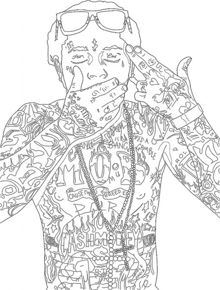 Tupac Coloring Pages