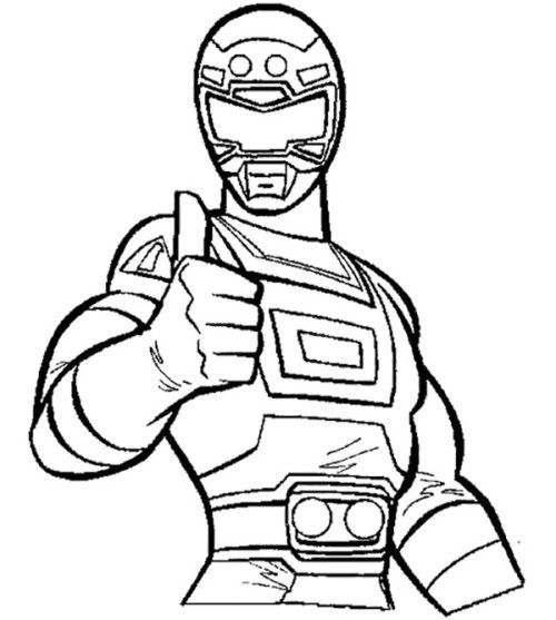 500x557 Power Rangers Turbo Coloring Pages