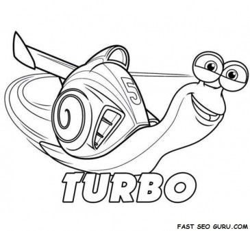 365x338 Printable Disney Turbo Coloring Page