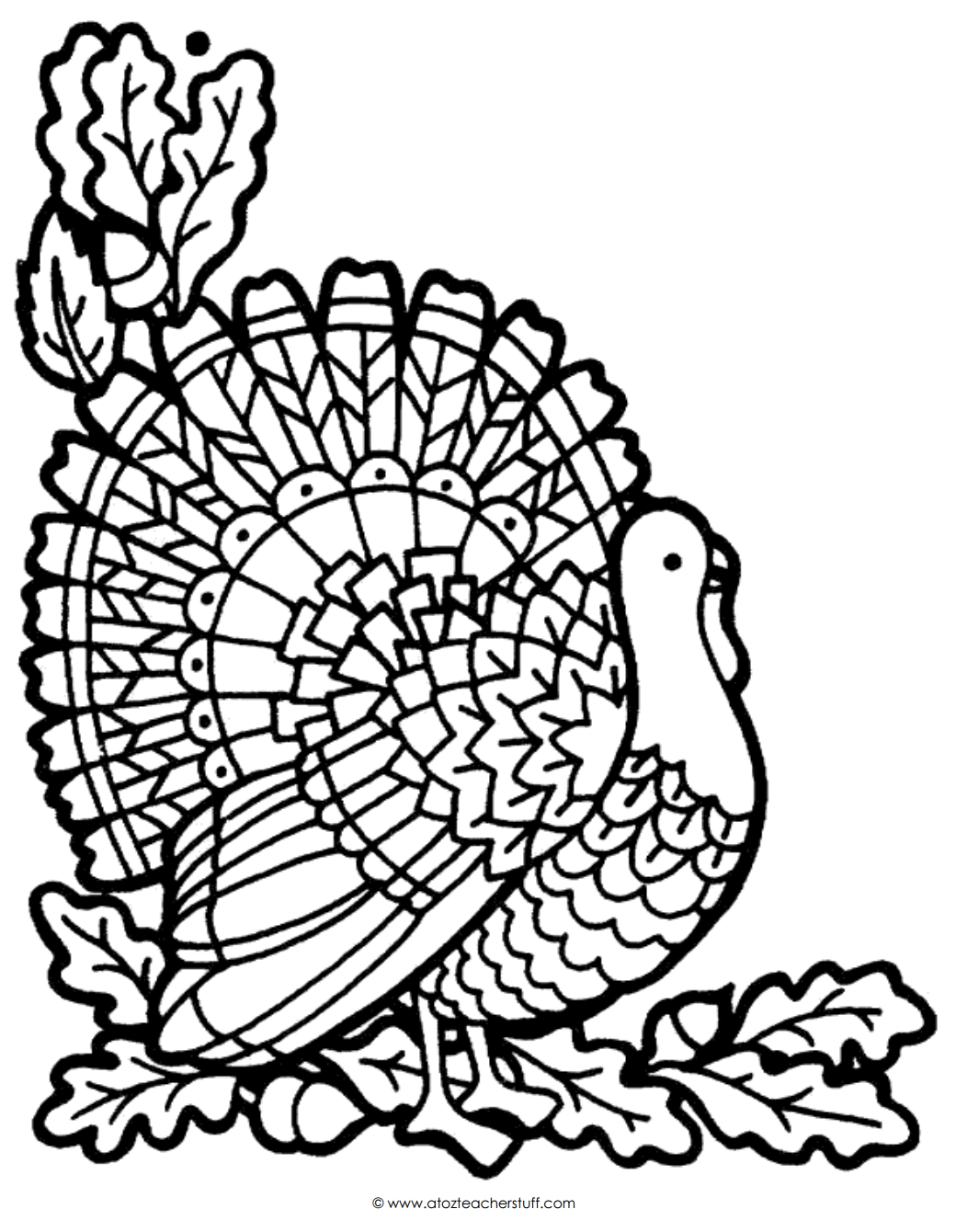 1040x1340 Turkey Coloring Page A To Z Teacher Stuff Printable Pages