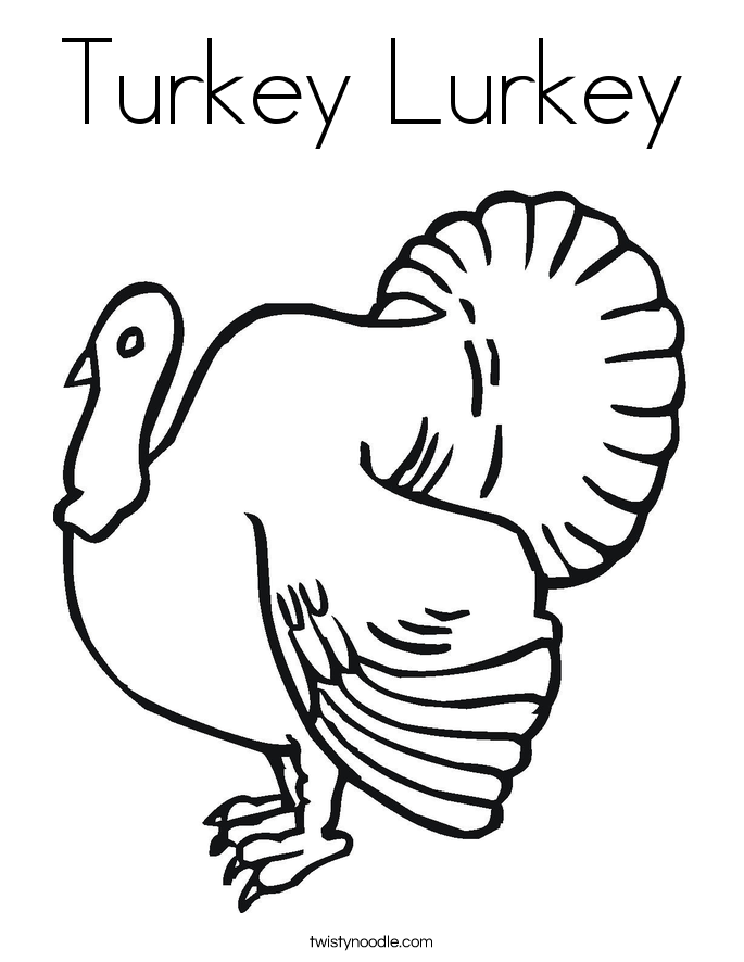 685x886 Turkey Lurkey Coloring Page