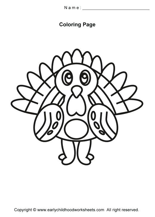520x730 Turkey Bird Coloring Pages