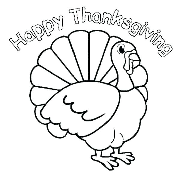600x583 Turkey Outline For Coloring Turkey Turkey Template Coloring Page