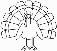 236x212 Turkey Coloring Page Fonts And Free Printables