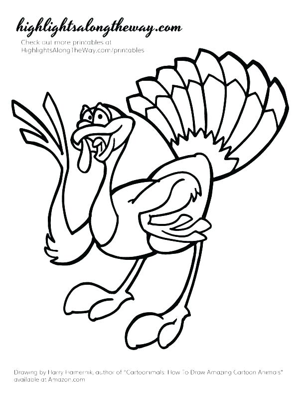612x792 Coloring Page Of Turkey