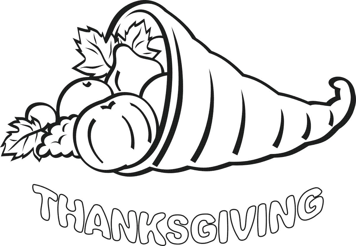 1206x834 A Kid Preparing Canada Thanksgiving Day Dinner Coloring Page Pages