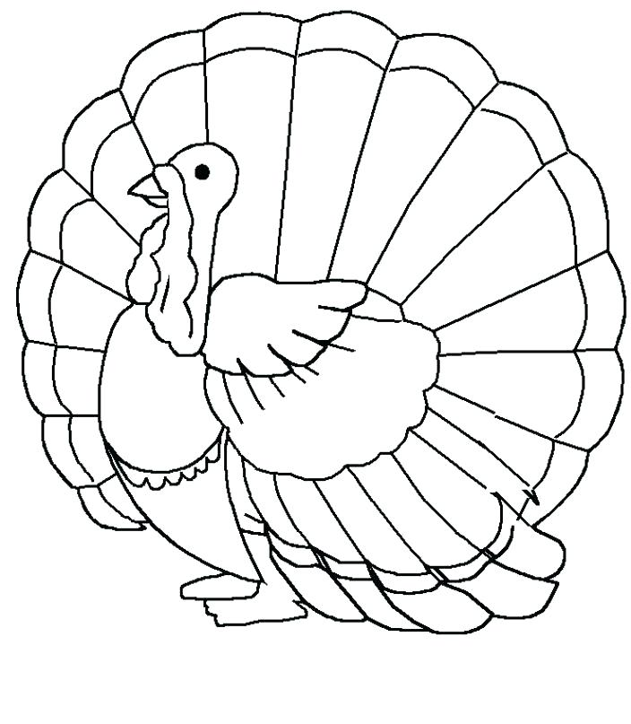 704x807 Turkey Coloring Pages Printable Turkey Coloring Page Turkey Day