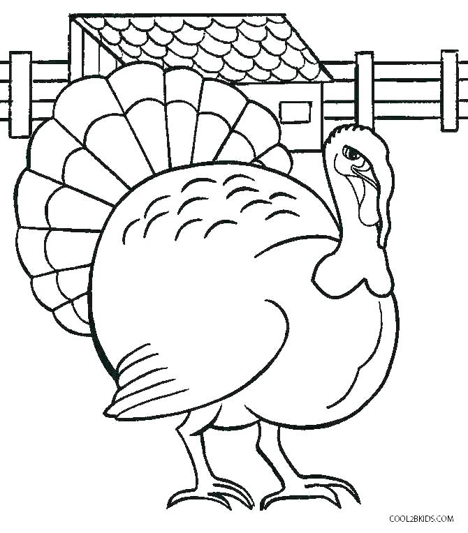 670x764 Turkey Coloring Picture