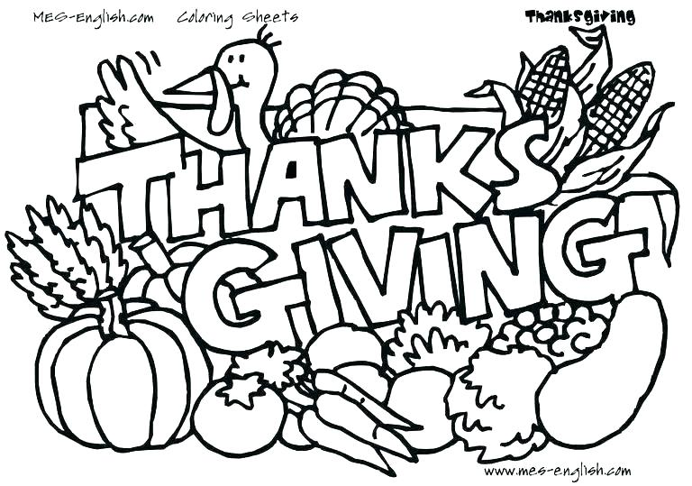768x539 Preschool Thanksgiving Coloring Pages Free Thanksgiving Coloring