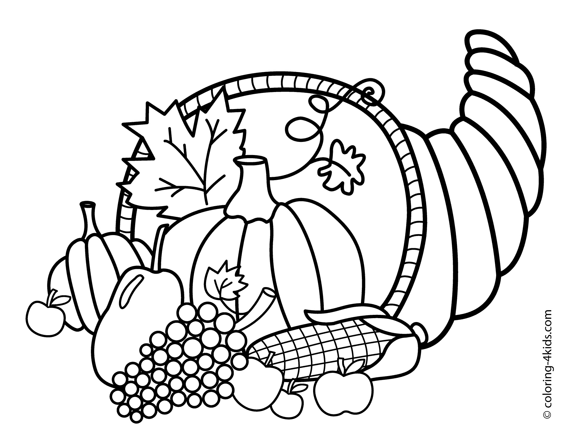 1916x1483 Black And White Turkey Coloring Pages Preschoo