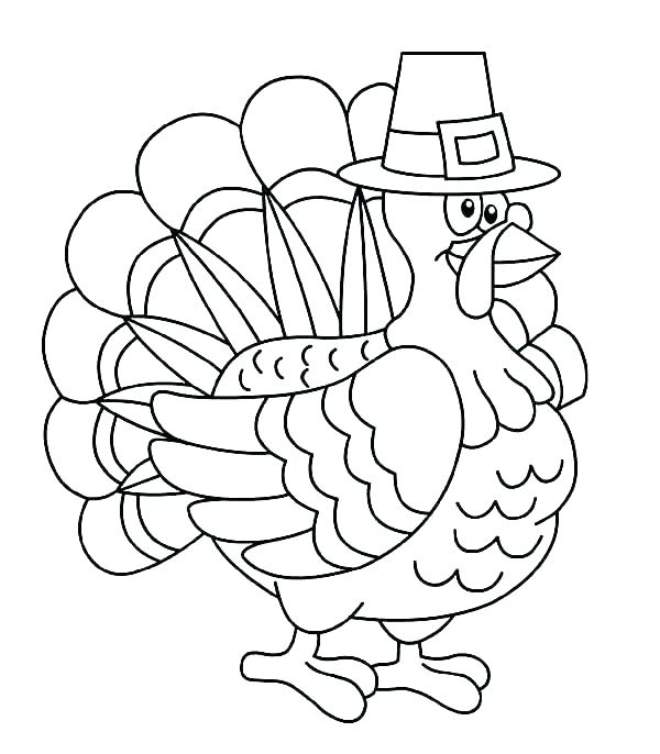 600x686 Turkey Coloring Pages Free Also Thanksgivi Turkey Colori Pages