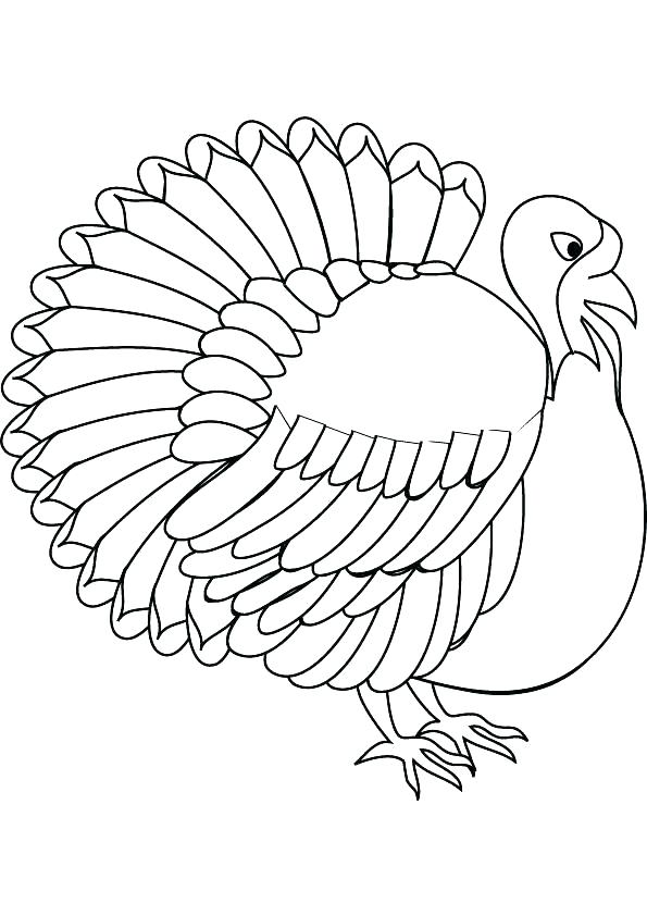 595x842 Free Turkey Coloring Pages Free Printable Turkey Coloring Pages