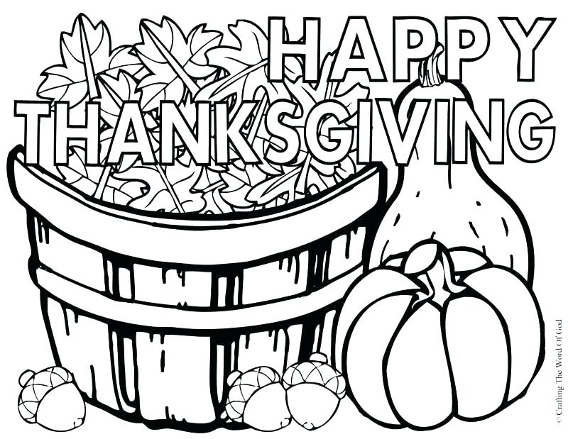 800x619 Thanksgiving Day Coloring Pages Free