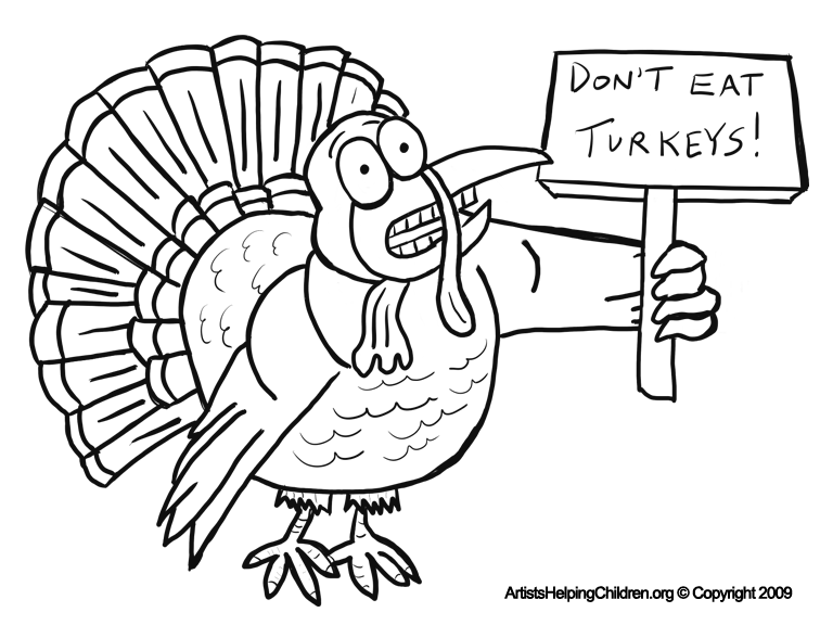 756x576 Thanksgiving Scared Turkeys Coloring Pages Printouts Afraid