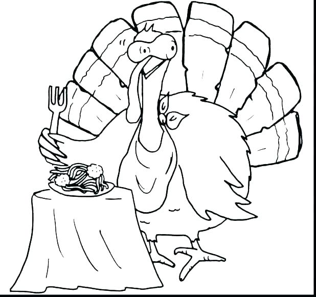 618x581 Turkey Coloring Pages For Kids