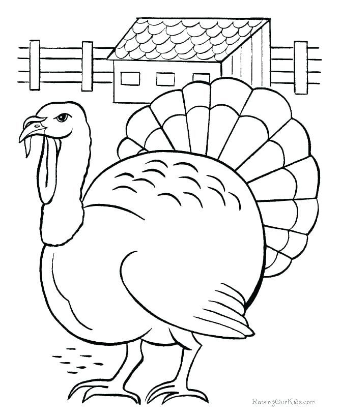 670x820 Free Turkey Coloring Page Turkey Coloring Page Free Printable