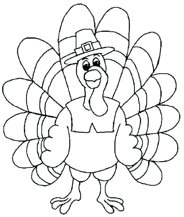 600x708 Turkey Coloring Page Turkey Coloring Pages Free Printable Thanks
