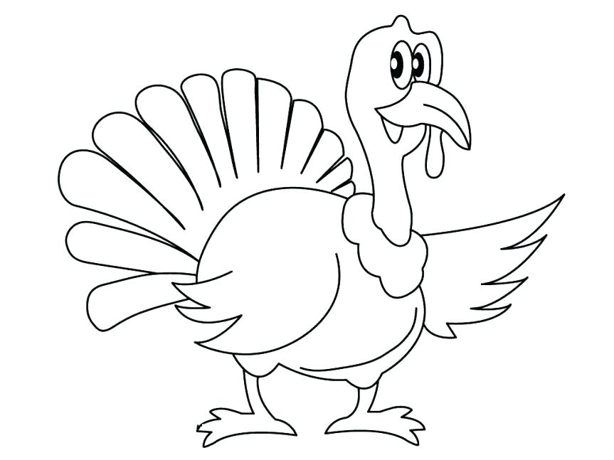 863x647 Turkey Coloring Page Turkey Coloring Pages Kids Simple Turkey