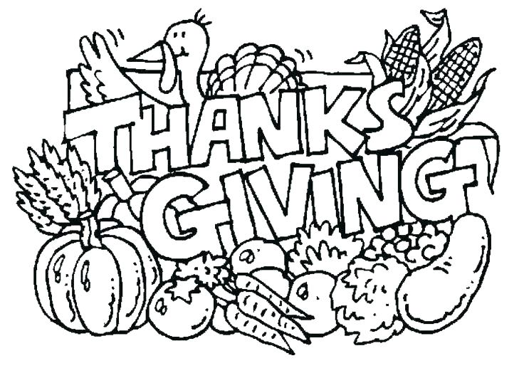 736x531 Cartoon Turkey Coloring Pages