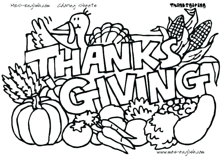 768x539 Thanksgiving Coloring Pages Turkey Page Of A Dinner Kids Color Day