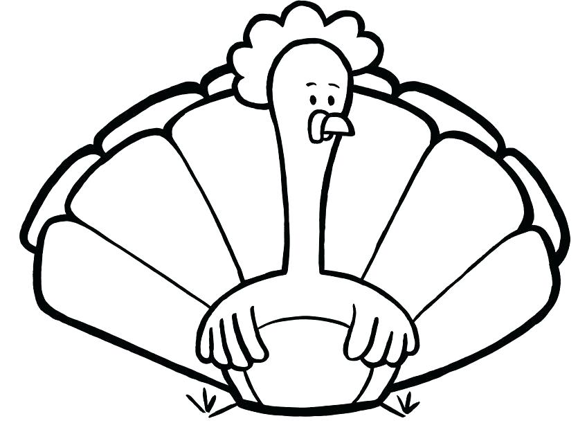 835x624 Cute Turkey Coloring Pages Cute Turkey Coloring Pages Free