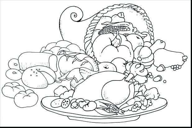 618x412 Thanksgiving Dinner Coloring Pages Thanksgiving Dinner Plate