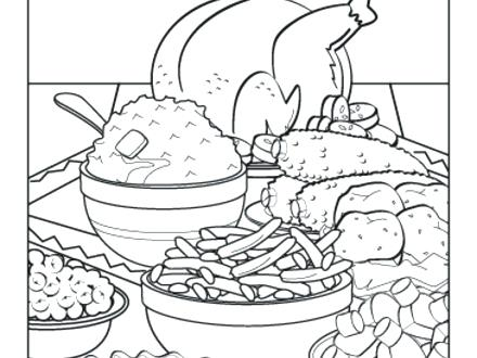 440x330 Thanksgiving Feast Coloring Pages Thanksgiving Dinner Coloring