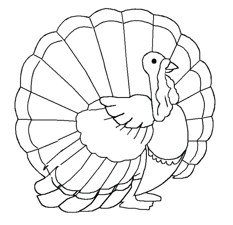 768x744 Turkey Dinner Coloring Page