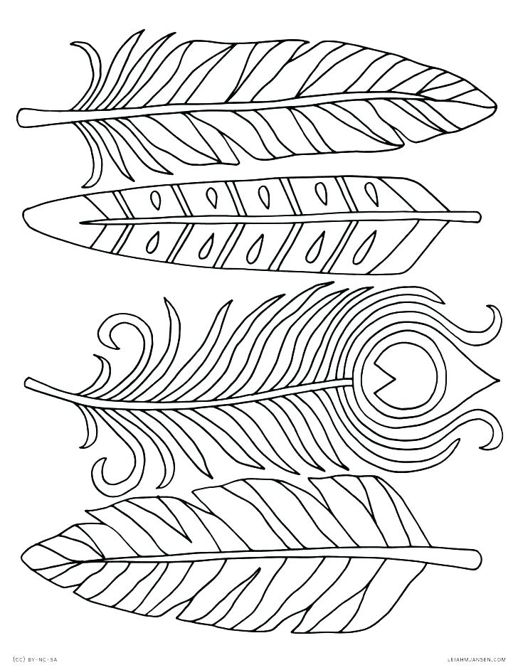 728x942 Printable Feather Coloring Page Feather Coloring Pages Peacock