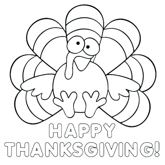 580x581 Printable Turkey Coloring Page Coloring Page Of A Turkey Feather