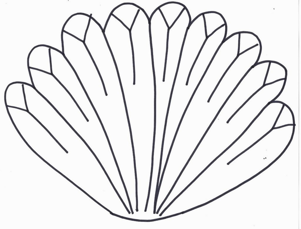 1024x778 Skill Turkey Feather Coloring Page