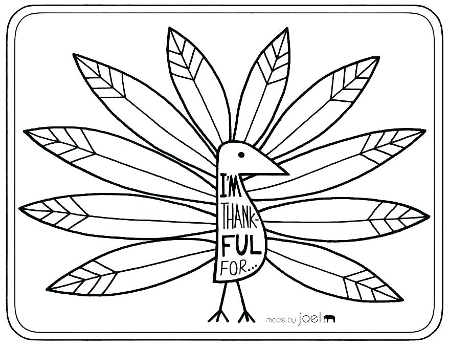 878x678 Astounding Turkey Coloring Pages Free Printable
