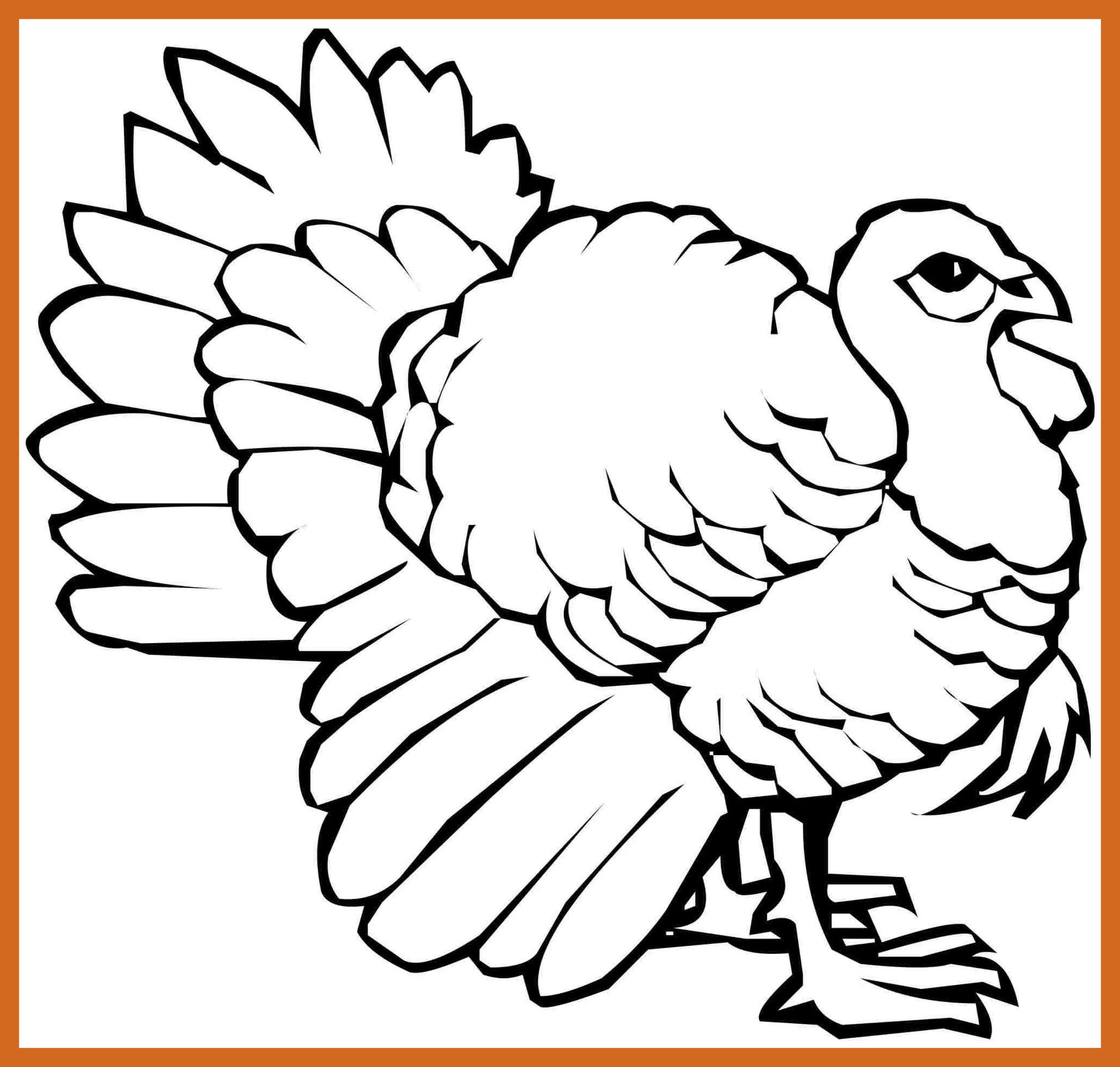 Turkey Head Coloring Page