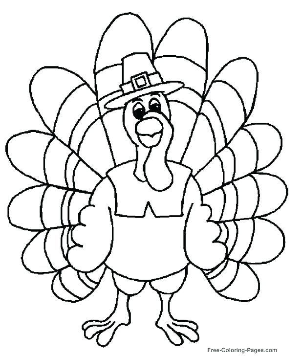 618x728 Turkey Coloring Pages For Preschoolers Plus Thanksgiving Coloring