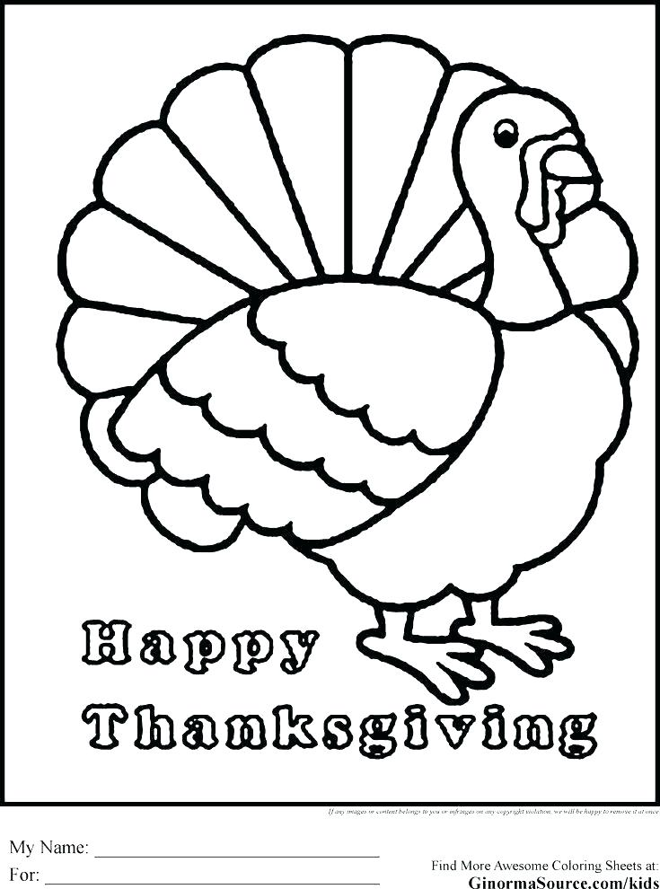 735x990 Coloring Page Of Turkey Print A Free Turkey Coloring Page