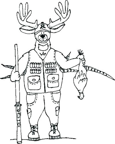 400x497 Hunting Coloring Pages Astonishing Hunting Coloring Pages For Your