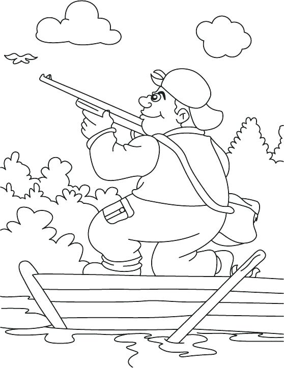 558x724 Hunting Coloring Pages Turkey Hunter Coloring Page Hunting Dog