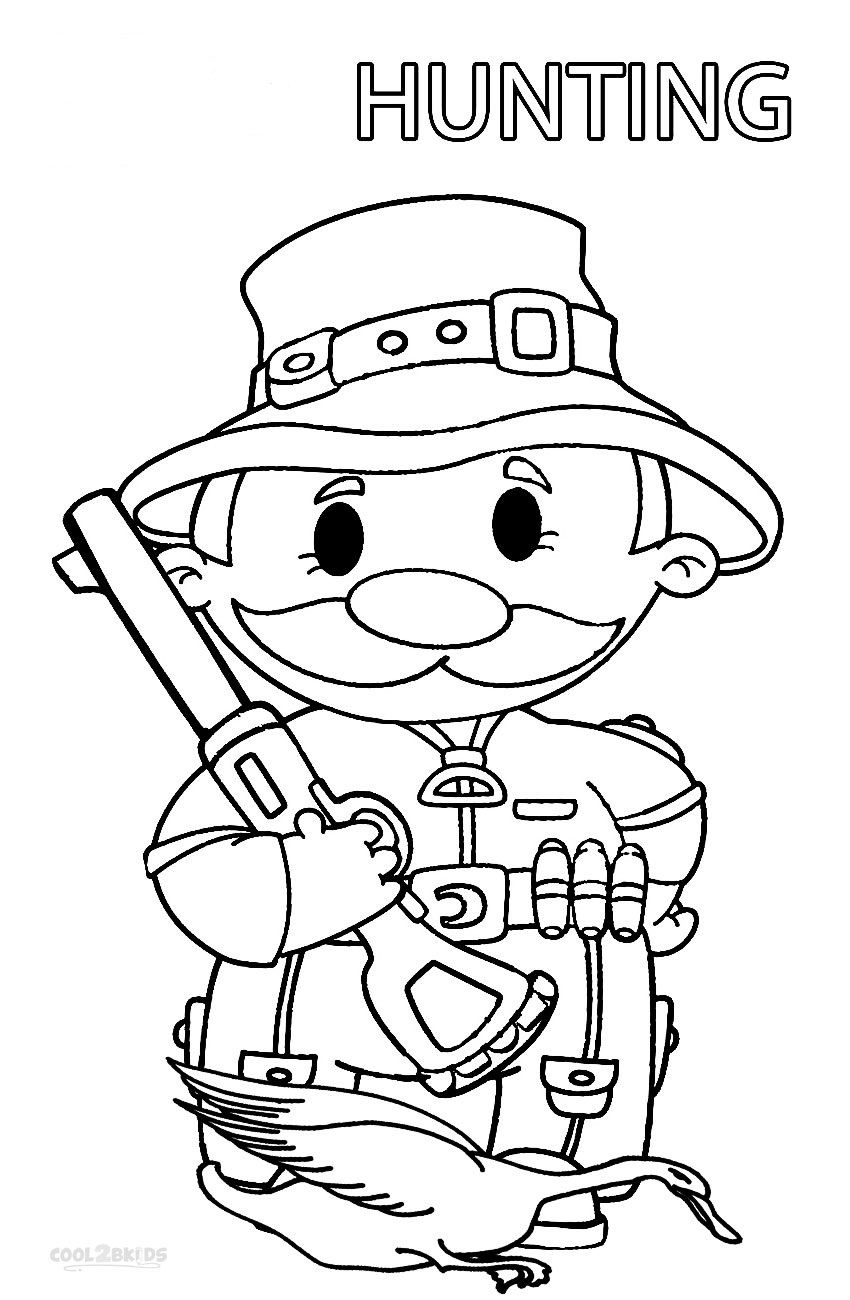 850x1300 Printable Hunting Coloring Pages For Kids