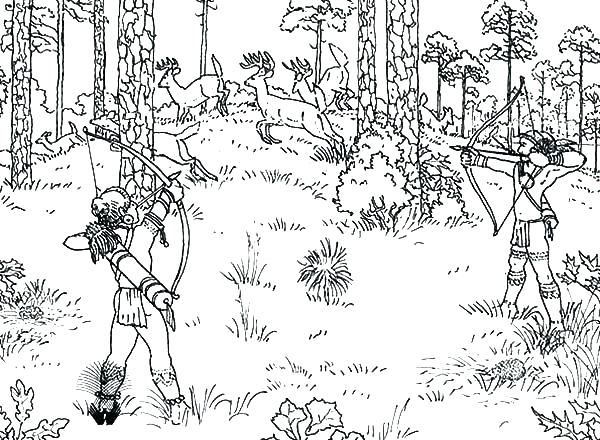 600x440 Deer Hunter Coloring Pages Hunting Coloring Pages Coloring Pages