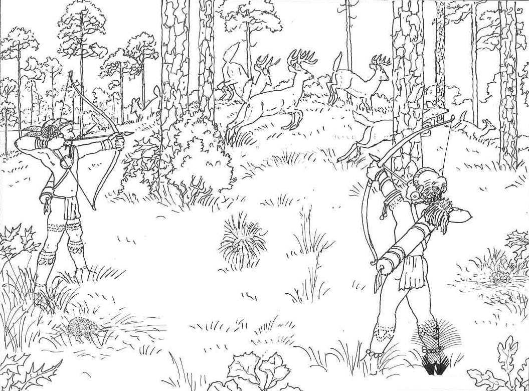 1055x780 Free Printable Hunting Coloring Pages For Kids