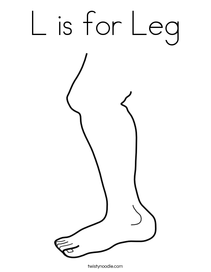 685x886 L Is For Leg Coloring Page