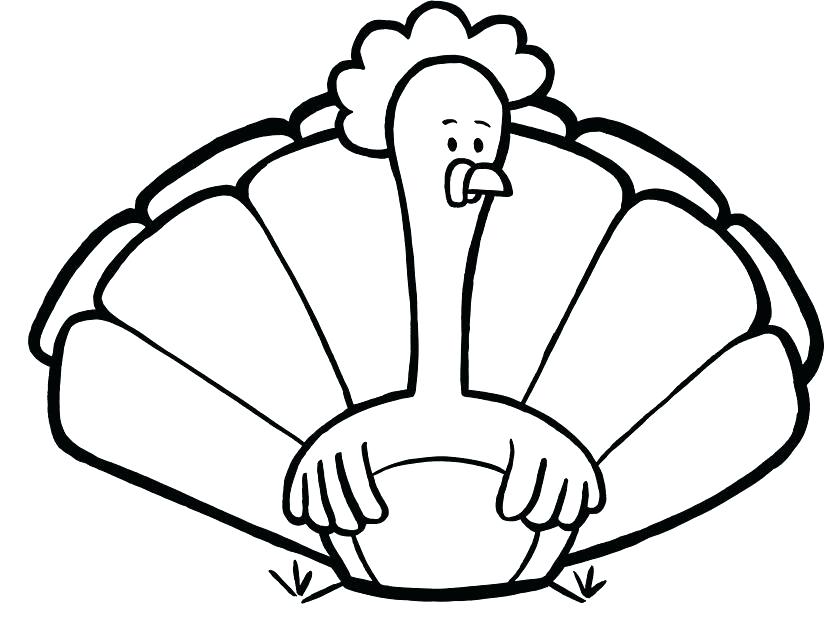 835x624 Printable Turkey Turkey Leg Templates Happy Thanksgiving Turkey