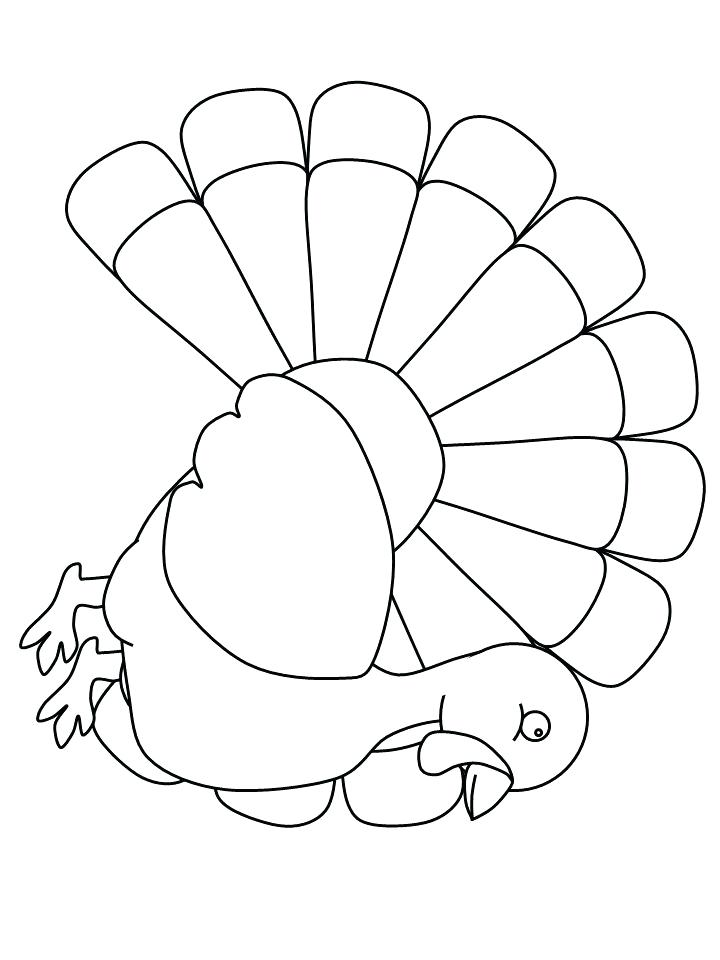 720x960 Turkey Coloring Picture Turkey Coloring Pages For Kids Preschool