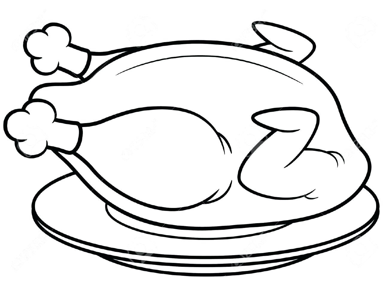1300x974 Coloring Pages Thanksgiving Turkey Fried Page Free Printable