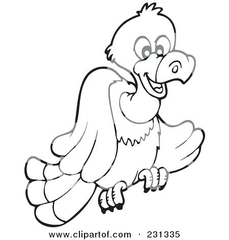450x470 Vulture Coloring Pages Drawn Vulture Colouring Pages