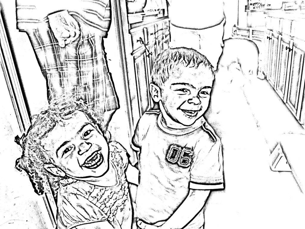 1024x768 Turn Pictures Into Coloring Pages App Qqa Me Throughout Photo Page