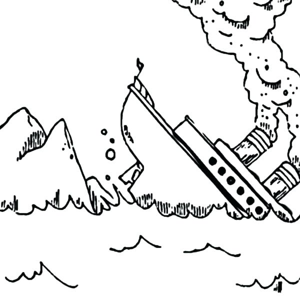 600x596 Photos Into Coloring Pages Titanic Sink After Crash Into