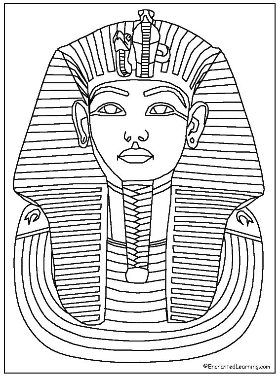 Tutankhamun Coloring Page