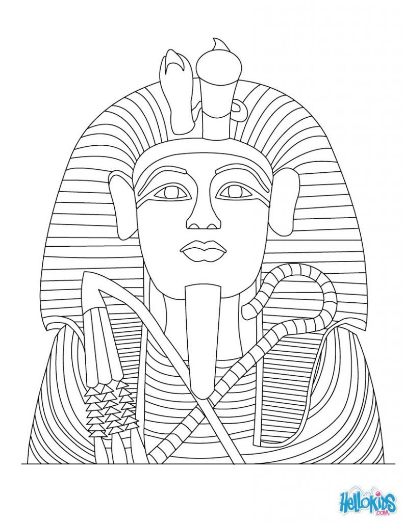 792x1024 King Tut Coloring Pages