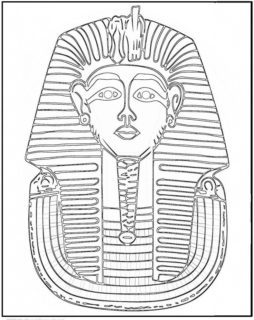 815x1024 Emerging King Tut Coloring Pages Free Printabl